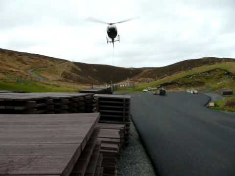 Helicopter movement, Unst, Shetland