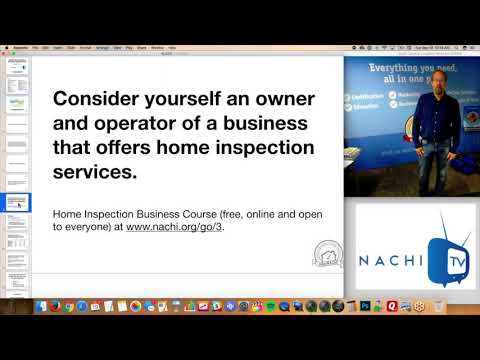Why Think of Yourself as a Business Owner in NACHI.TV Clip #3 for Home Inspectors