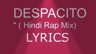 Despacito in hindi lyrics