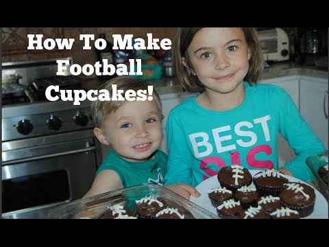 How to Make Football Cupcakes!