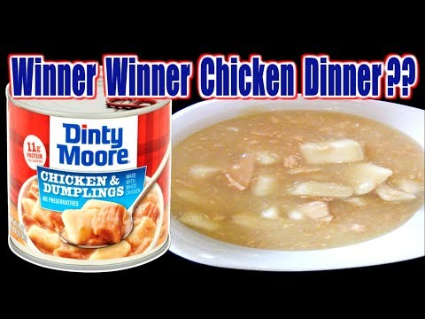 Chicken & Dumplings IN A CAN!?! - Winner Winner Chicken Dinner or FAIL? - WHAT ARE WE EATING??