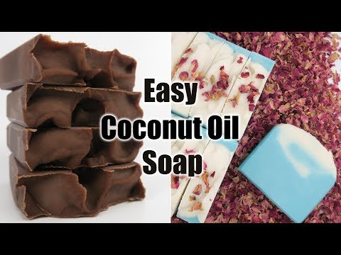 Easy Coconut Oil Soap (with recipe) - Spicy Pinecone