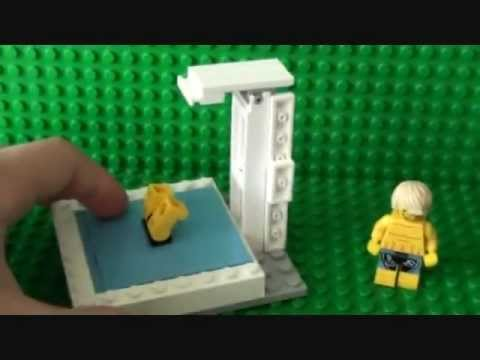 How To Build A Lego Swimming Pool With Diving Board