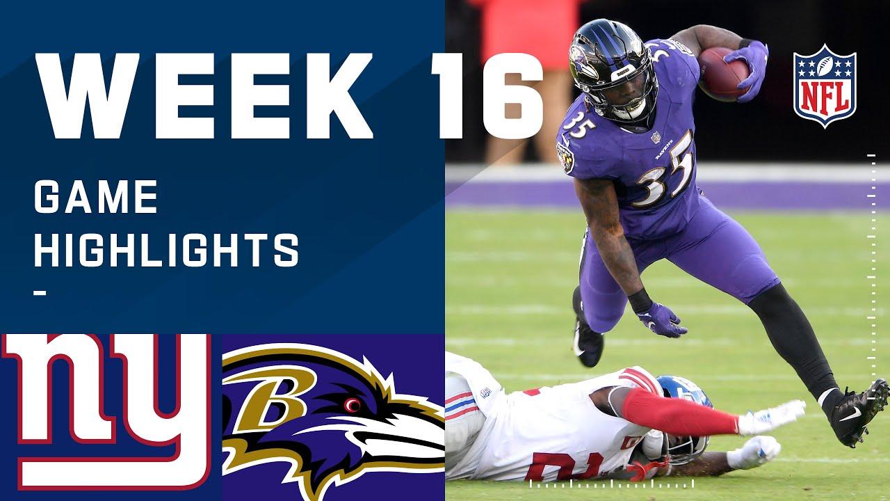 Giants vs. Ravens Week 16 Highlights | NFL 2020