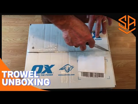 Bricklaying with Steve and Alex UNBOXING NEW OX TROWEL