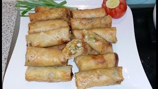Spring Roll اسپرنگ رول / Cook With Saima