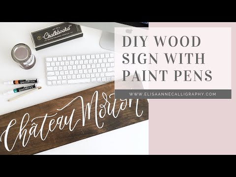 Hand Lettering Wooden Signs with Paint Pens || DIY & Tutorial