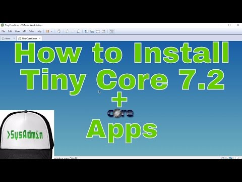 How to Install Tiny Core Linux 7.2 on Hard Disk + Apps + Review + VMware Tools on VMware Workstation
