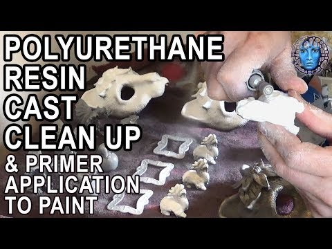 Polyurethane Resin Cast Clean Up & Primer Application To Paint
