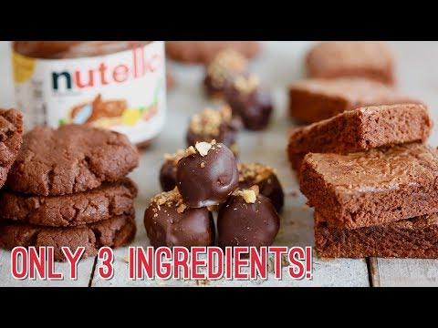 3-Ingredient Nutella Recipes: Brownies, Cookies & Truffles!