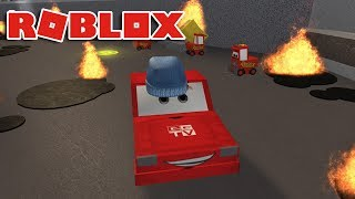 SAVE LIGHTNING MCQUEEN!! | Cars 3 Roblox Obby