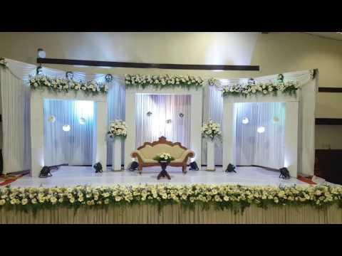 Wedding decoration in Trivandrum | Reception Wedding Stage Decoration in Sri Mulam Club
