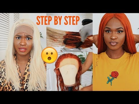 HOW TO | DYE BURNT ORANGE/GINGER HAIR TUTORIAL | Teyana Taylor/SZA insired | Kiitana