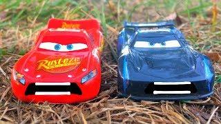 Disney Pixar Cars 3 Lightning McQueen and Jackson Storm Big Race Rematch Disney Cars Toy Story Movie