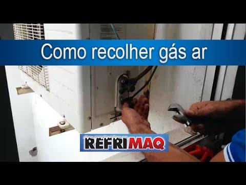 Como recolher gás ar split