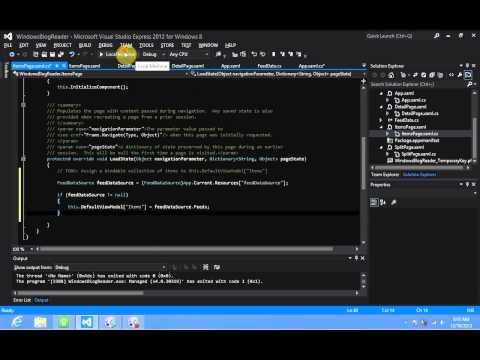 Windows 8 Development - XAML DefaultViewModel Binding