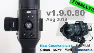Download DJI Ronin-S Firmware Update 1.9.0.80 | Canon 80D! | Sony, Canon, Nikon, Panasonic, FujiFilm Video