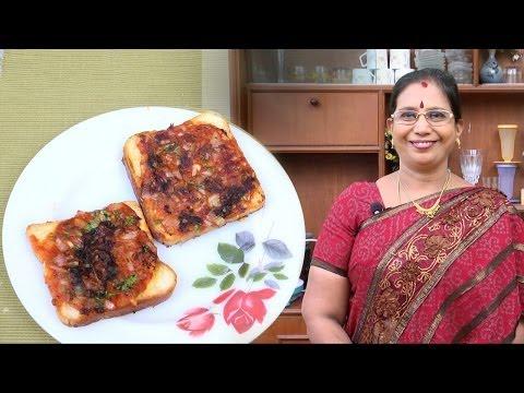 Tomato Open Toast | Mallika Badrinath Indian Recipes | Bread Toaster with Tomato | Breakfast