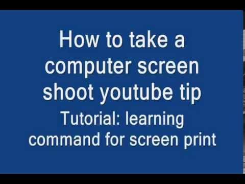 Print screen computer command rare tip tutorial osk PrtScn screen shoot image YTV 14