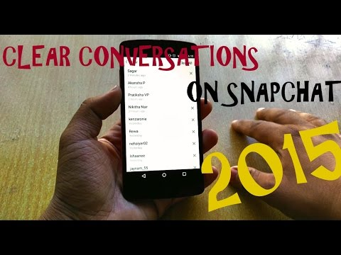 How To Clear Conversations On SNAPCHAT.!