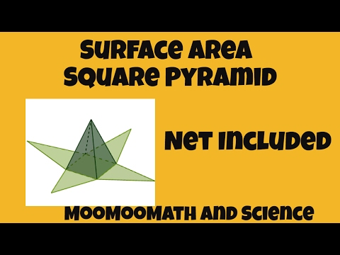 Surface Area of a Square Pyramid-Includes net of the shape
