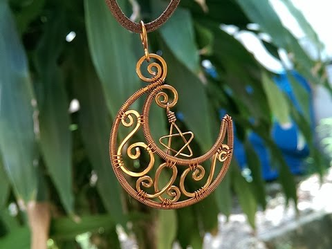 pendant inspired by Sailor Moon manga - making wire wrap jewelry 15