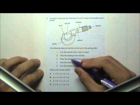 2011 O' Level Physics 5058 Paper 1 Solution Qn 1 to 5
