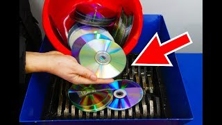 WHAT HAPPENS IF YOU DROP 100 CD INTO THE SHREDDING MACHINE?