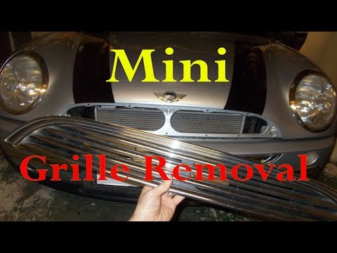 Mini radiator grille removal
