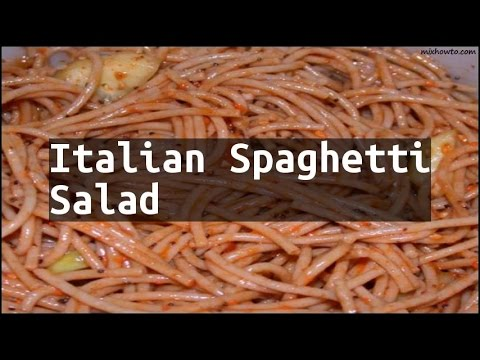 Recipe Italian Spaghetti Salad