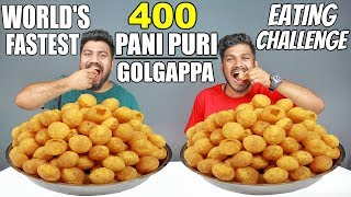 400 PANI PURI/GOLGAPPA EATING COMPETITION | PANI PURI CHALLENGE |  Food Challenge India (Episode-58)