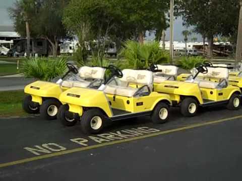 New golf carts at Okeechobee KOA