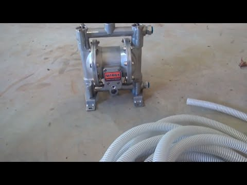 Double diaphragm pump for waste oil