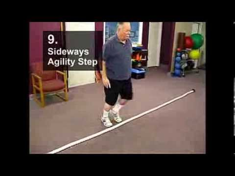 Fall Prevention Exercises (Balance Series) - Sideways Agility Stepover