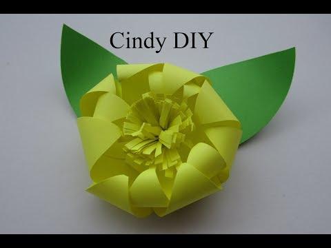 Paper Flower easy Origami Tutorial for kids | DIY paper craft idea for beginner | Cindy DIY