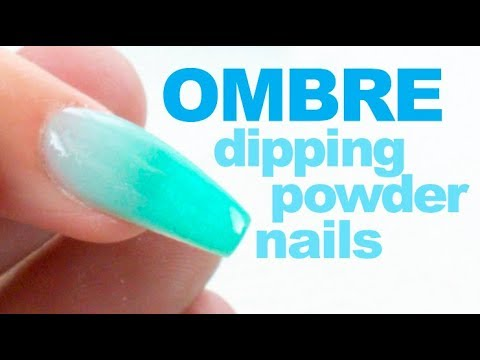 Dip Powder Ombre Nail Tutorial with Chisel Dipping Powder