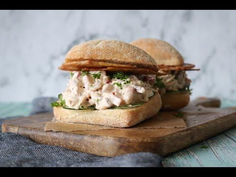 The Best Chicken Salad Sandwich With Crispy Chicken Skin - By One Kitchen