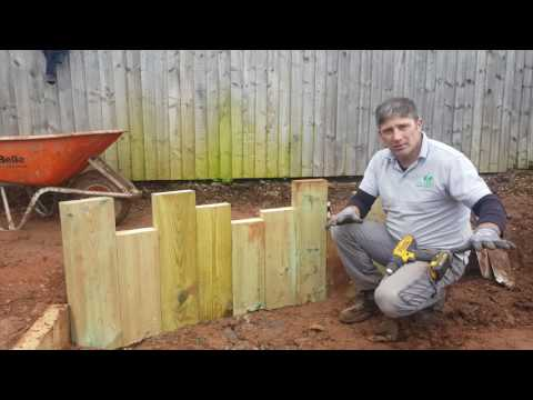 How To Build A Beach Groyne Style Retainer Using Garden Sleepers