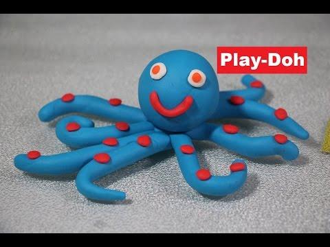 Play-Doh octopus - Fun with Ocean Sea Animals Play Dough Creations Moon Lounge