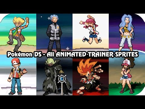 Pokémon Games Every Important Trainer Sprite Animations