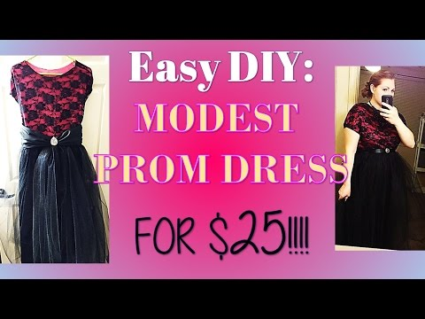 Easy DIY: MODEST Prom Dress for $25! (with sleeves)