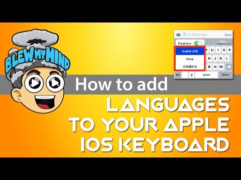 How to add languages to your Apple IOS Keyboard?