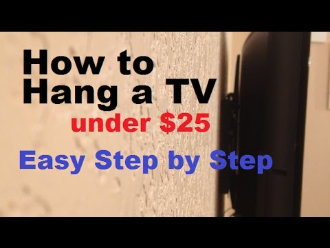 How to Hang a TV on the wall using a wall mount