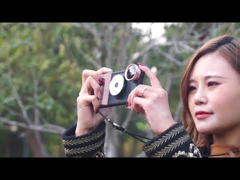 iphone case with led light /fisheye lens/marco lens/wide angle (RK23)