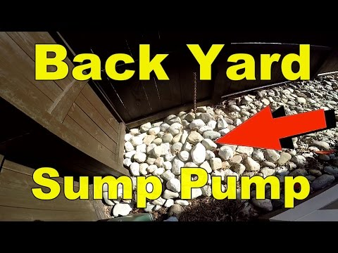 Sump Pump to Drain Backyard Flood, How To for HomeOwners