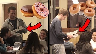 Giving Donuts to College Students During Finals Week