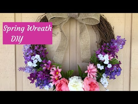 Dollar Tree Spring Farmhouse Wreath DIY