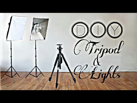 Make a Tripod and Video Lighting for under a Buck | DIY |How to