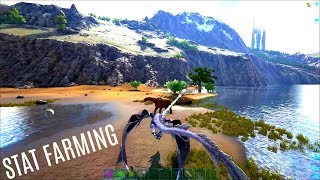 FINDING HIGH DINO STATS & Fishing Loot - Official PVP (E17) - ARK Survial