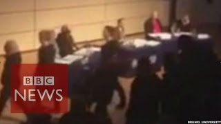 Katie Hopkins: Moment Brunel students walked out - BBC News
